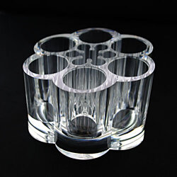 Clear Acrylic Makeup Organizer Flower Acrylic Organizer - great for makeup, party favors, craft storage, party displays, etc
