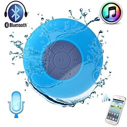 Waterproof Bluetooth Shower Speaker Hands Free Speaker - Blue