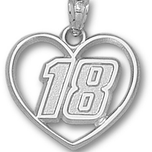 Buy Kyle Busch Number 18 in Heart Pendant by David ...