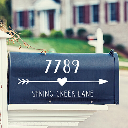 Heart Arrow Mailbox Decal