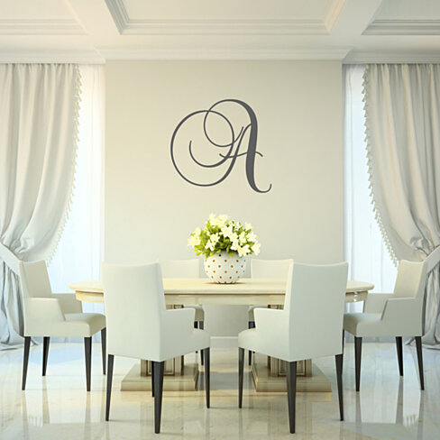 Single Initial Monogram Wall Decal