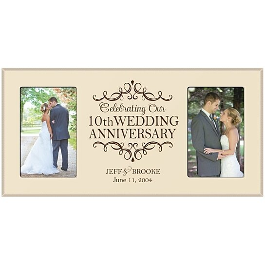 Buy Personalized 10th Wedding Anniversary Photo Frame Celebrating