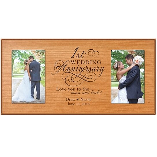 Buy personalized st wedding anniversary photo frame love