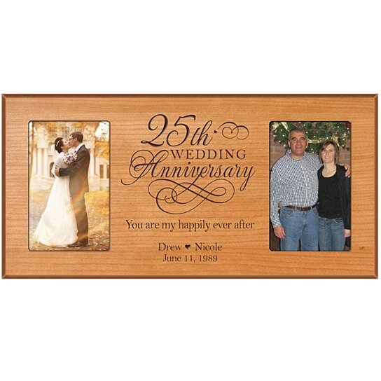 Buy Personalized 25th Wedding Anniversary Photo Frame, You