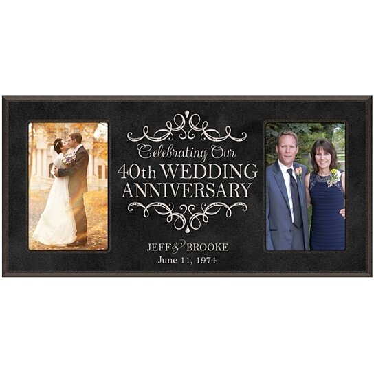 Buy Personalized 40th Wedding Anniversary Photo Frame By DaySpring Milestones On OpenSky