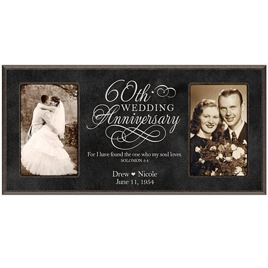 Wedding Anniversary Gifts For Her: Buy Personalized 60th Wedding Anniversary Photo Frame, For