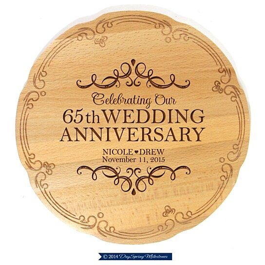 65 Wedding Anniversary Gift: Buy Personalized 65th Wedding Anniversary Cake Stand