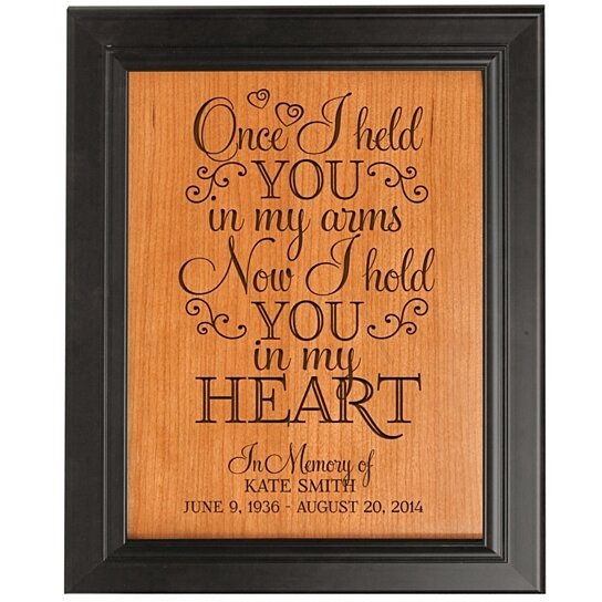 Buy Personalized Memorial Framed Plaque Once I Held You