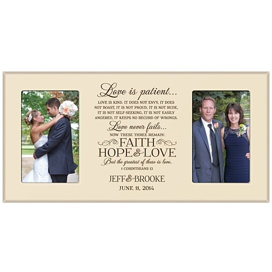 Buy Personalized Wedding Or Anniversary Photo Frame Love Is Patient
