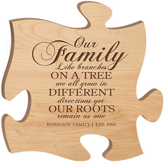 Wallverbs Family Tree Personalized Picture Frame Set: Buy Personalized Puzzle Piece, Our Family Like Branches On