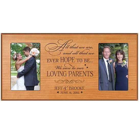 Personalized Wedding Picture Frames Parents : Buy Personalized Wedding Photo Frame for Parents, All that we are and ...