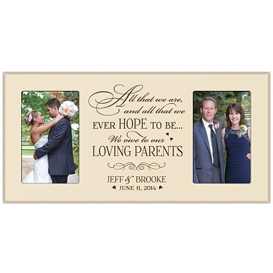 Personalized Wedding Picture Frames For Parents : Buy Personalized Wedding Photo Frame for Parents, All that we are and ...