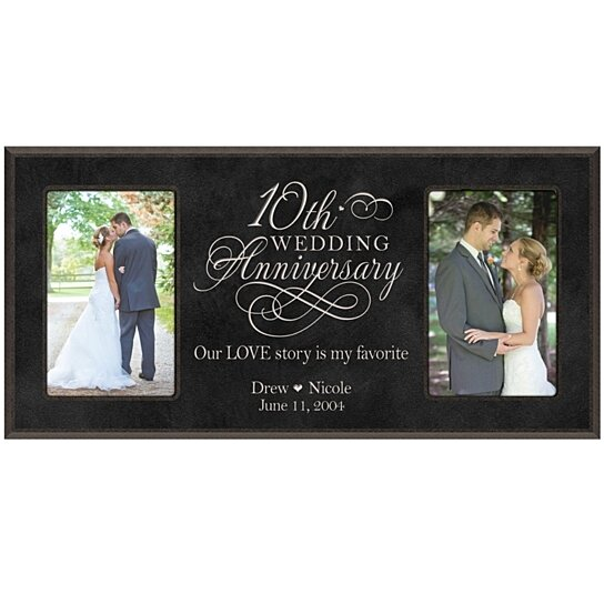 Wedding Anniversary Gifts For Her: Buy Personalized 10th Wedding Anniversary Photo Frame, Our