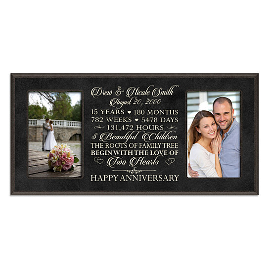 Gift For 15 Wedding Anniversary: Buy Personalized 15th Anniversary Photo Frame, Can Be