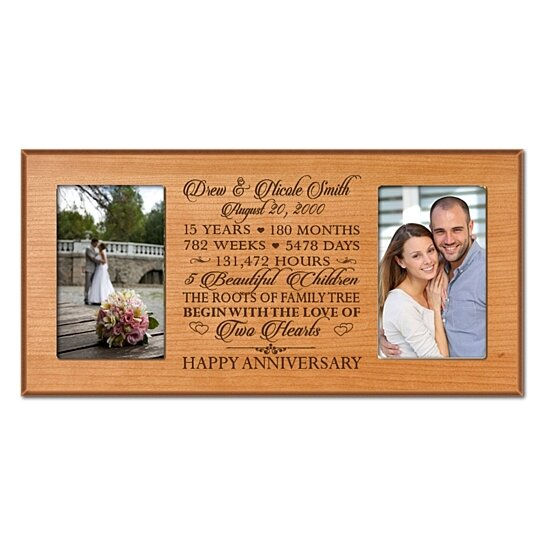 Buy Personalized 15th Anniversary Photo Frame Can Be Customized To Any Anniversary Year The