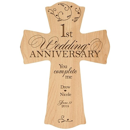 Buy Personalized 1st Wedding Anniversary Cross, You