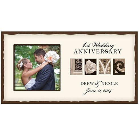 Buy personalized 1st wedding anniversary photo frame with for 1st wedding anniversary gifts her