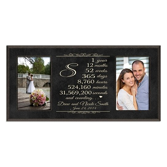 Special Gift For Wedding Anniversary: Buy Personalized 1st Anniversary Photo Frame, Years Months