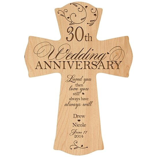 30 Wedding Anniversary Gifts: Buy Personalized 30th Anniversary Cross, 30th Wedding