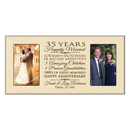 Wedding Gift 35 Years : Buy Personalized 35th Wedding Anniversary Photo Frame, Happily Married ...