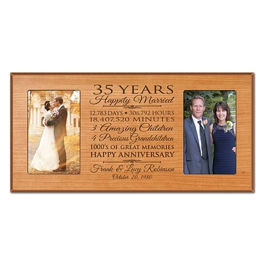 Buy Personalized 35th Wedding Anniversary Photo Frame, Happily Married ...