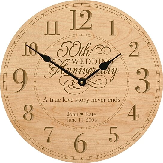50th Anniversary For Husband Gifts: Buy Personalized 50th Wedding Anniversary Clock, A True
