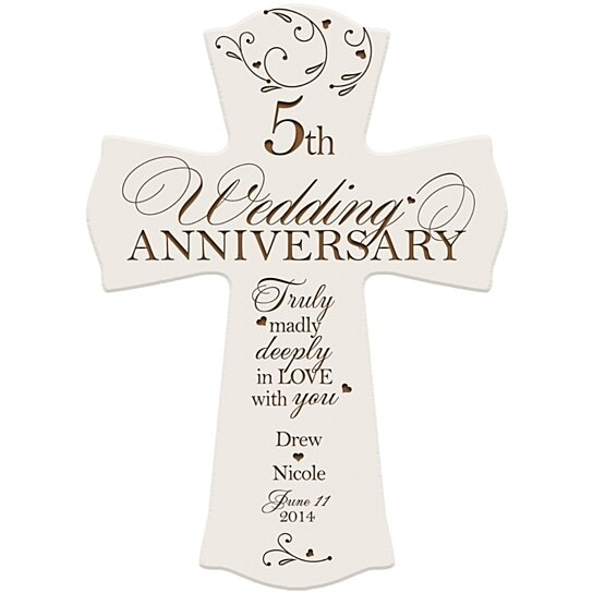 Special Gift For Wedding Anniversary: Buy Personalized 5th Wedding Anniversary Cross, Truly