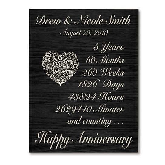 5th Wedding Anniversary Ideas For Her