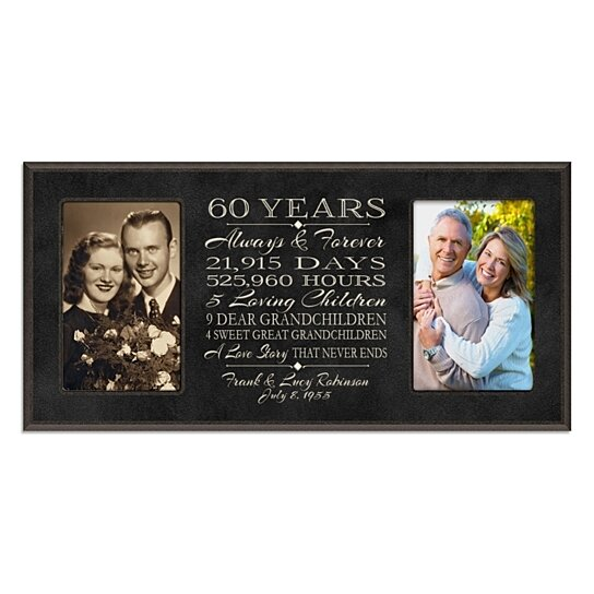 Buy Personalized 60th Anniversary Photo Frame, Always & Forever ...