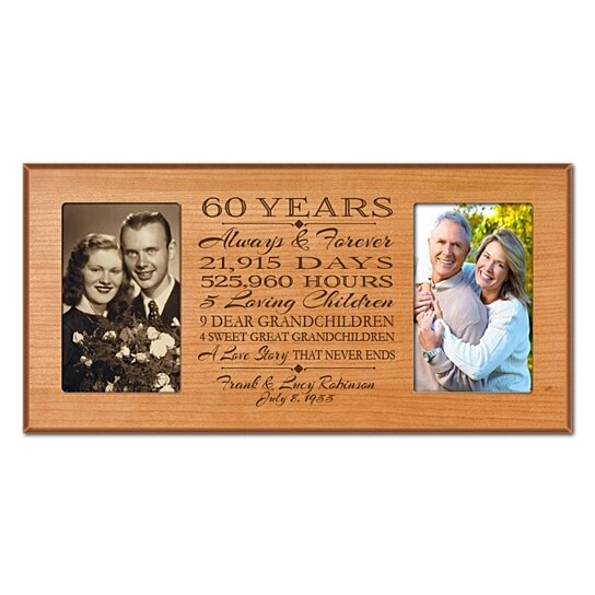 60 Years Wedding Anniversary Gifts: Buy Personalized 60th Anniversary Photo Frame, Always
