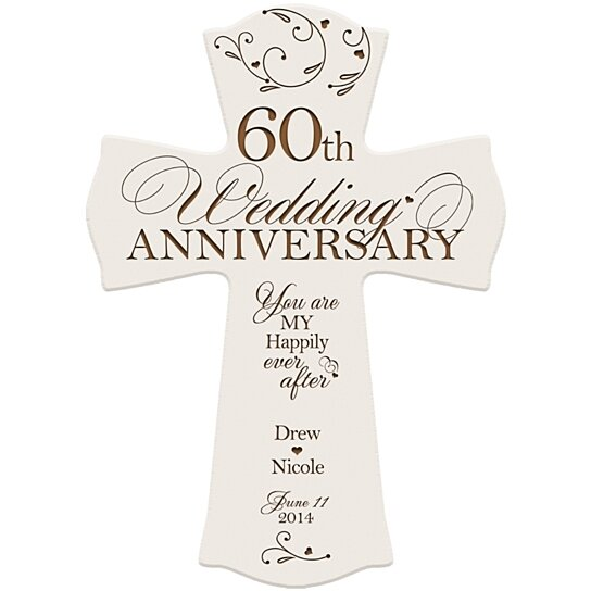 60 Years Wedding Anniversary Gifts: Buy Personalized 60th Wedding Anniversary Cross, You Are