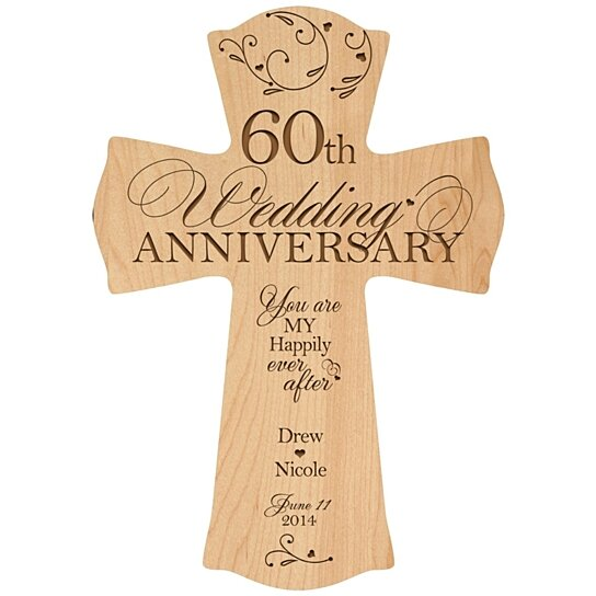 Gifts For 60th Wedding Anniversary: Buy Personalized 60th Wedding Anniversary Cross, You Are