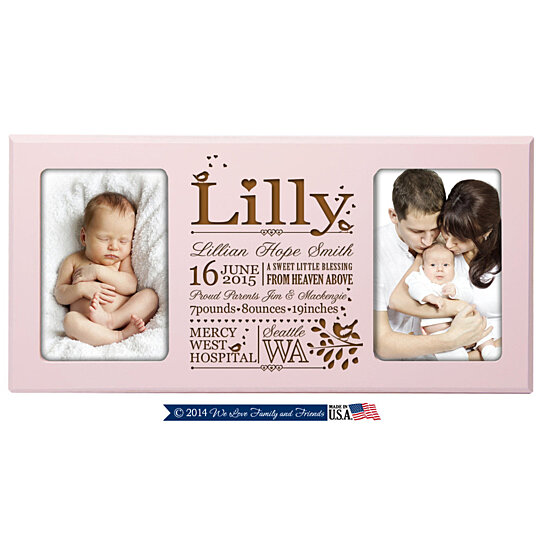 Buy Personalized Baby Birth Announcement Photo Frame Features Baby