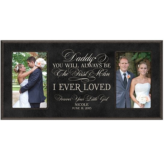 Buy Personalized Wedding Photo Frame for Dad, Daddy you will always ...