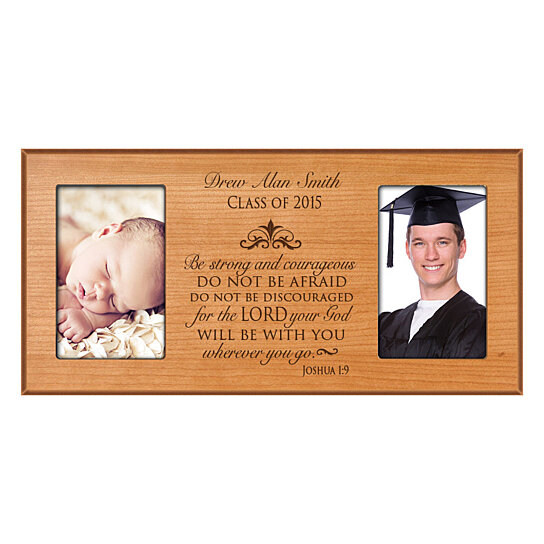 Buy personalized graduation photo frame be strong and for Personalized last name university shirts