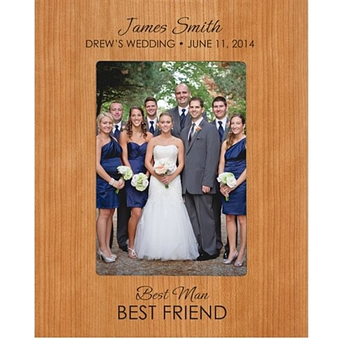 Personalized Groomsmen or Best Man Photo Frame, Best Man Best Friend ...
