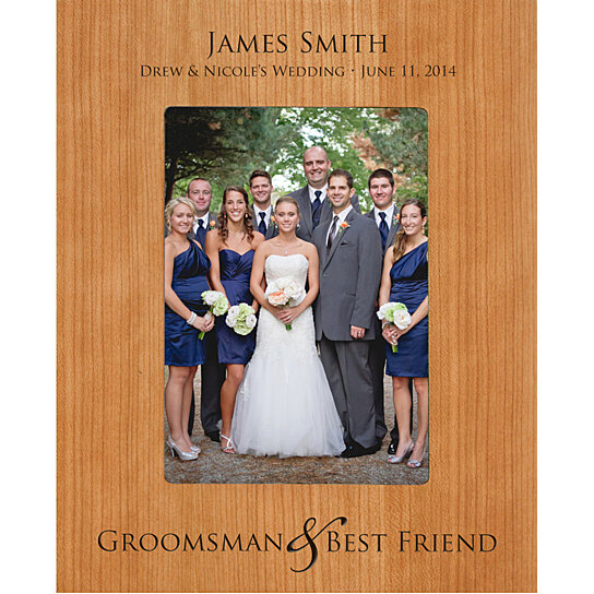 Groomsmen or Best Man Photo Frame, Groomsman & Best Friend ...