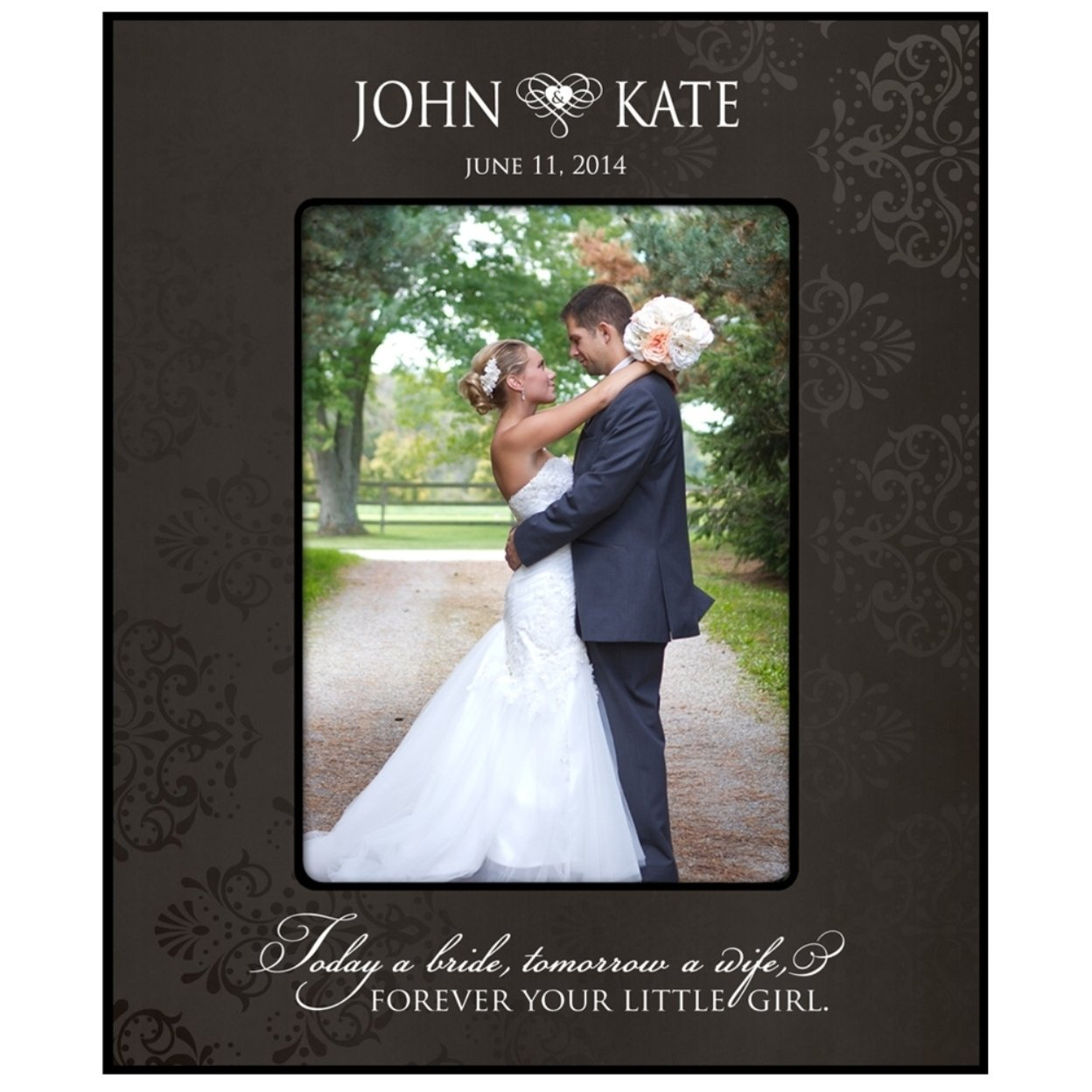Personalized Wedding Photo Frame for parent to say thanks 55c8d90ea2771cdc368b45de