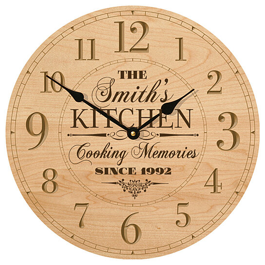 Personalised Clock Wedding Gift India : Buy Personalized Kitchen Clock, The (your name) Kitchen Cooking ...