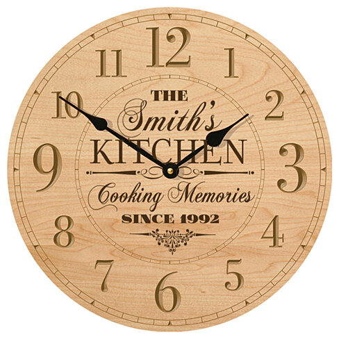 Buy Personalized Kitchen Clock, The (your name) Kitchen ...