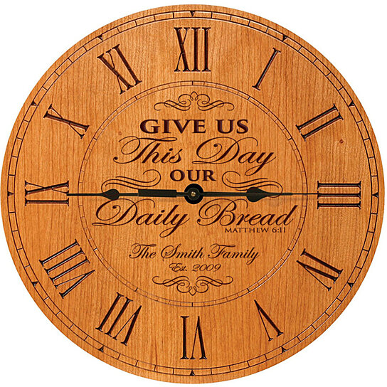 Wedding Clock Gift: Buy Personalized Clock, Give Us This Day Our Daily Bread