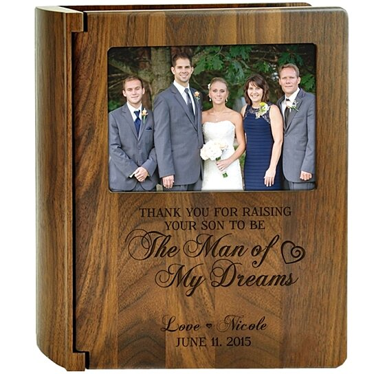 buy personalized wedding walnut photo album thank you for raising