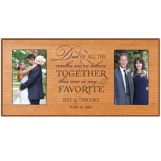 Wedding Gift To Daughter From Dad : Buy Personalized Wedding Photo Frame, Dad and Daughter Frame, Dad of ...