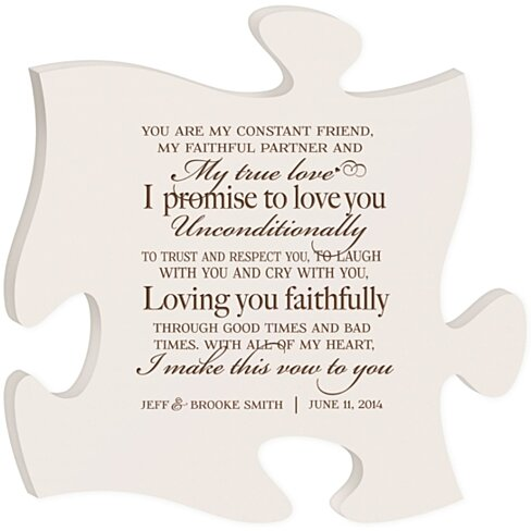 Wedding vows you are my 28 images 25 best ideas about wedding wedding vows you are my buy personalized wedding vows puzzle plaque you are my junglespirit Images