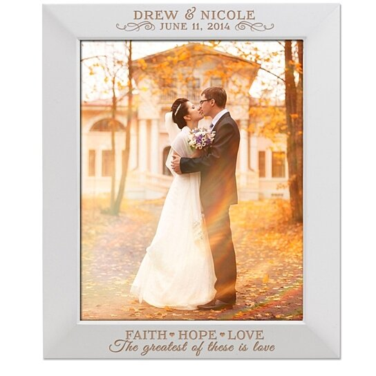 Buy Personalized Wedding Or Anniversary Photo Frame Faith Hope Love