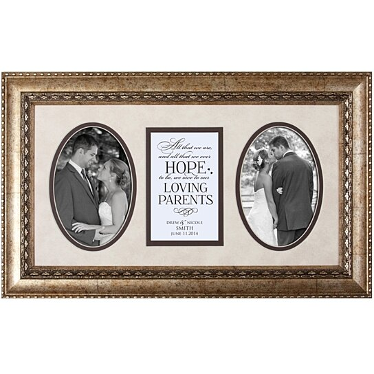 Personalized Wedding Photo Frames For Parents : Buy Personalized Wedding Photo Frame for Parents, All that we are and ...