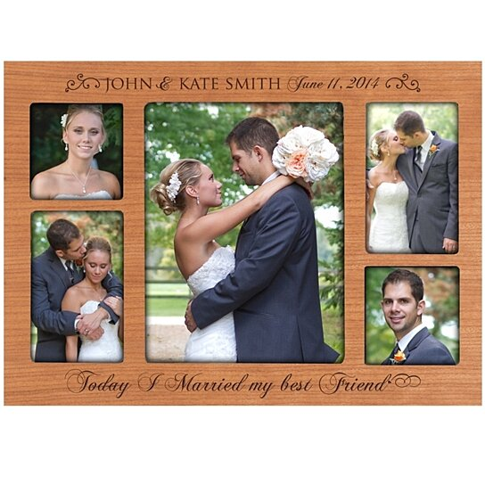 Buy Personalized Wedding Photo Frame Collage Today I Married My Best Friend By DaySpring