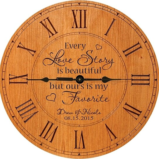Wedding Clock Gift: Buy Personalized Wedding Or Anniversary Clock, Every Love