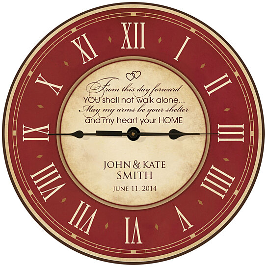 Buy Personalized Wedding or Anniversary Clock, From this day forward ...