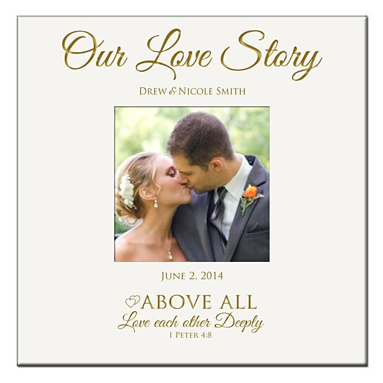 Love Each Other Deeply: Buy Personalized Wedding Or Anniversary Photo Album, Our